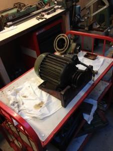 De slede met motor (45kg)